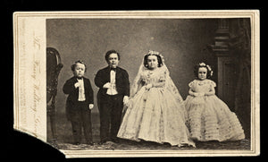 Tom Thumb Fairy Wedding 1860s CDV Photo from The Brady Negative