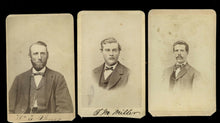 Load image into Gallery viewer, three men from civil war era 1860s St. Charles Missouri - All ID'd / Old Photos