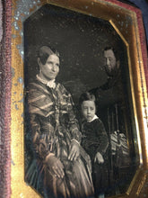 Load image into Gallery viewer, 1/4 Group Daguerreotype of a Family Philadelphia Photographer MP Simons