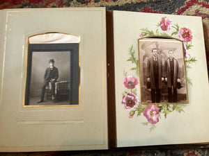 Antique Leather Album 39 Photos Tintypes CDV