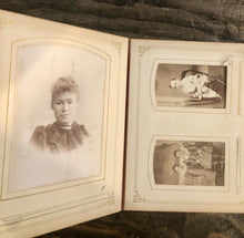 Load image into Gallery viewer, High Quality 1800s Leather Album Many ID'd People Cabinet Cards CDVs Tintype 61A