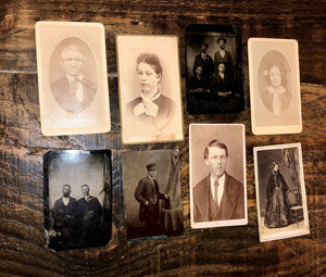 Lot of Tintypes and CDVs - Civil War Tax Stamp