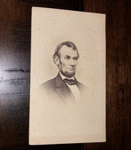 Load image into Gallery viewer, NICE EXAMPLE ~ ABE LINCOLN BY TOMLINSON BOSTON ~ 1860S CDV PHOTO