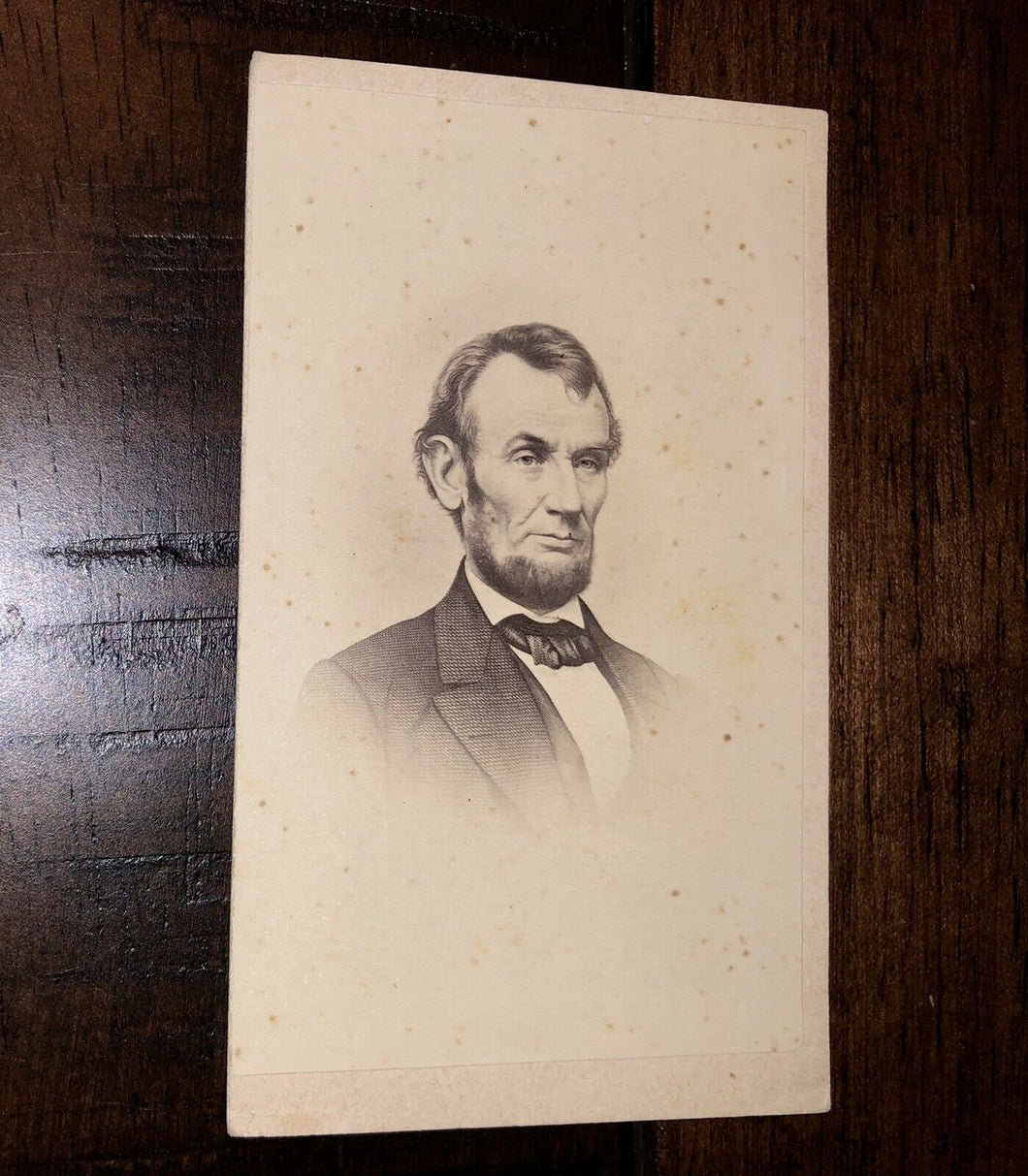 NICE EXAMPLE ~ ABE LINCOLN BY TOMLINSON BOSTON ~ 1860S CDV PHOTO
