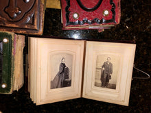 Load image into Gallery viewer, FOUR civil war & later albums 168 total antique photos tintypes cdvs (SA6)