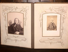 Load image into Gallery viewer, Antique leather album Nice Cabinet Cards CDVs Tintype unique design