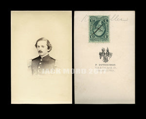 ID'd Civil War Soldier By Gutenkunst Philadelphia 1860s CDV Photo with Tax Stamp