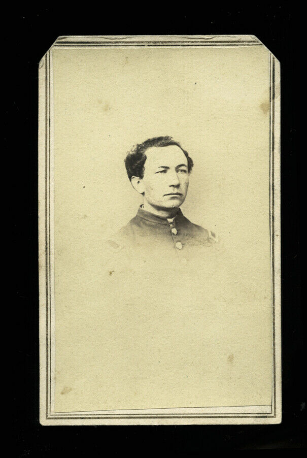 1860s Civil War Soldier ,Dalzell's Secretary, Washington DC Photographer Crosbie