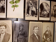 Load image into Gallery viewer, Lot Of 13 CDV Photos 1860s 1870s Hand Tinted Flowers Floral Wreath Art Filler
