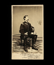 Load image into Gallery viewer, CDV of Identified Civil War Soldier James H. Demarest - Signed