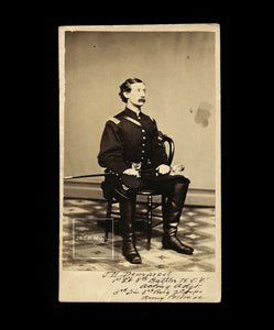 CDV of Identified Civil War Soldier James H. Demarest - Signed