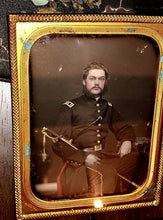Load image into Gallery viewer, Early Civil War Soldier Armed & ID'd Tinted 1/4 Daguerreotype by Anson New York