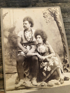 Rare 1800s Photo Circus Sideshow Performers Big Hair Wild People or Indian?