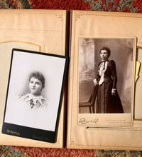 Load image into Gallery viewer, Antique Leather Album 20 Cabinet Card Photos All Identified
