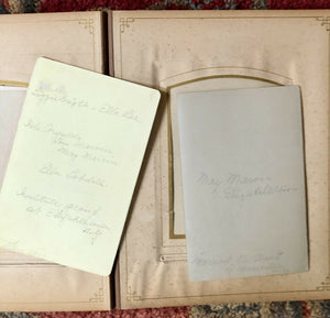 Antique Leather Album 20 Cabinet Card Photos All Identified