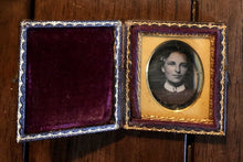 Load image into Gallery viewer, Sealed Miniature 1/16 Daguerreotype Woman Wearing Figural Brooch Pr Connecticut