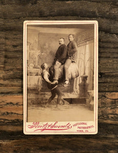 "Original 1800s Photo Circus Sideshow Strongman John Jennings ""The Modern Samson"""