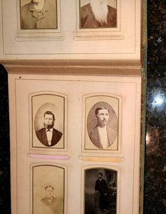 antique Victorian album cabinet cards cdvs tintype mourning / memorial widow 62A