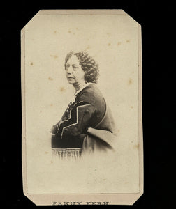 1860s CDV Photo of Author Women's Rights Advocate FANNY FERN