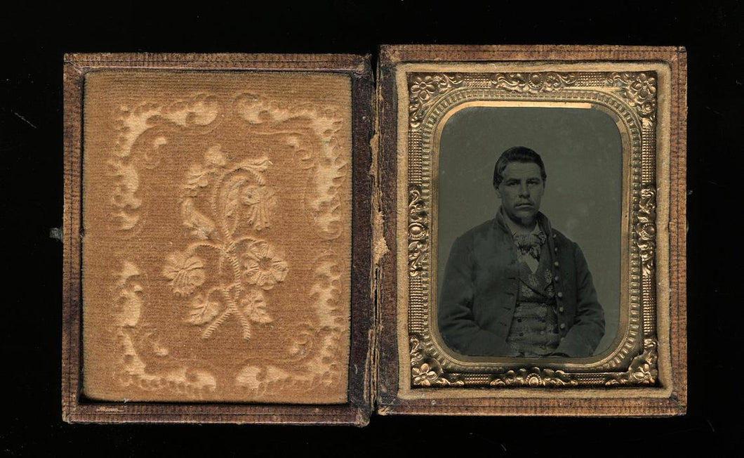 Civil War Soldier Ambrotype - Possibly Hatfield Family