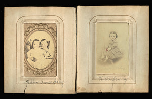 Identified STALEY Children One Holding Cat / Kitten - Tennessee 1860s CDV Photos