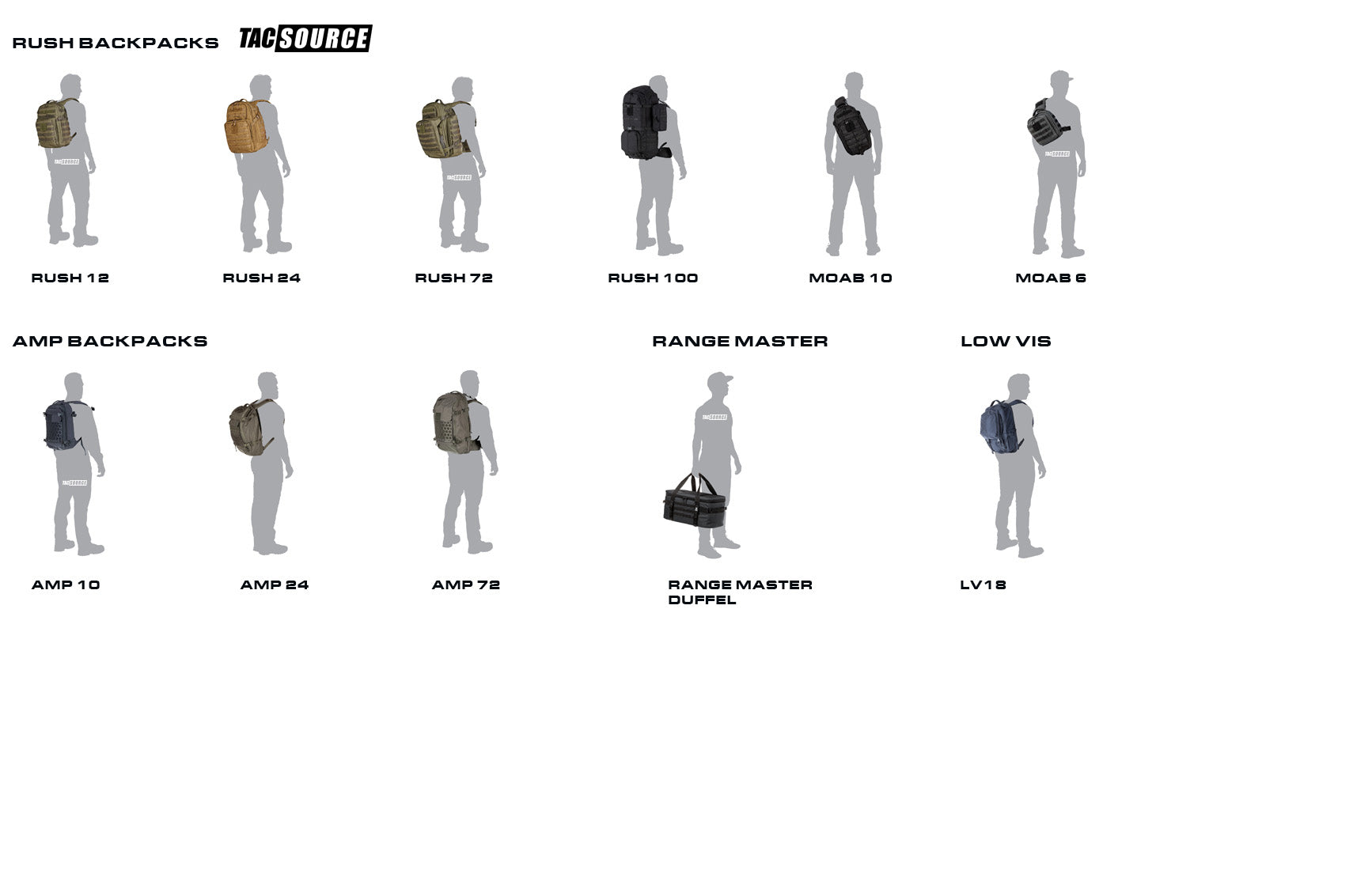 5.11 Backpack Size Chart