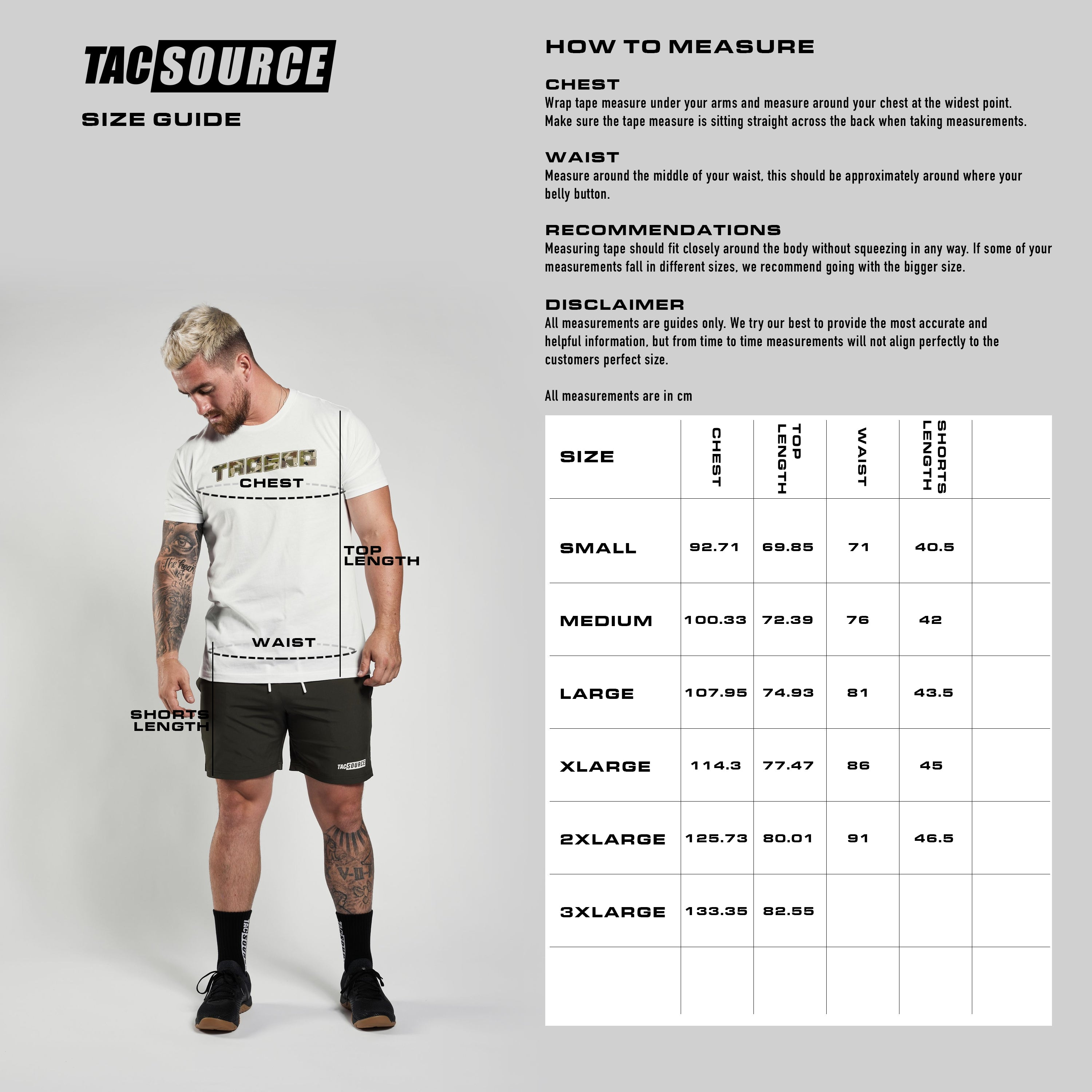TacSource size guide