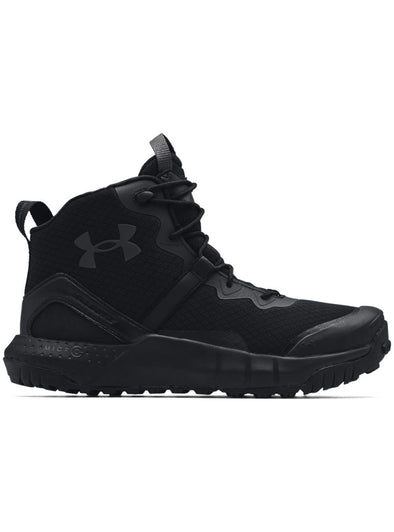 Under Armour Micro G Valsetz Mid - Black-Boots-TacSource