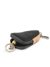Load image into Gallery viewer, Triangle Leather Key Holder - Black