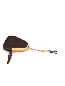 Triangle Leather Key Holder - Brown