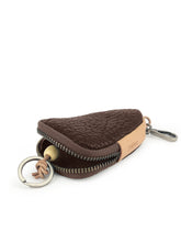 Load image into Gallery viewer, Triangle Leather Key Holder - Brown