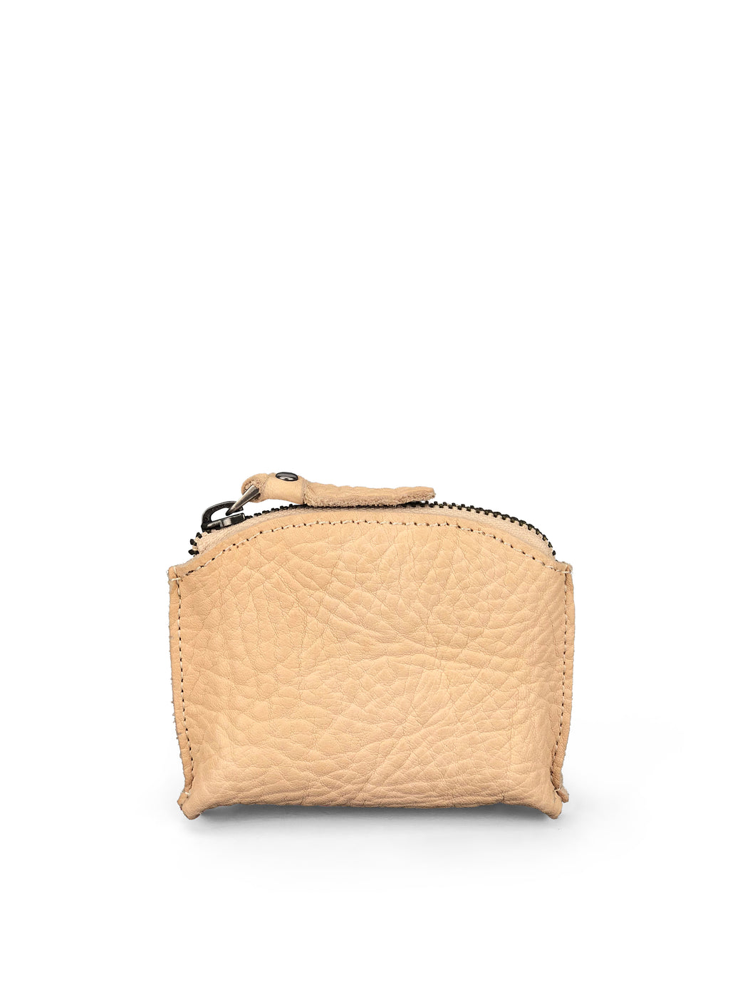 Pebbled Leather Purse - Beige