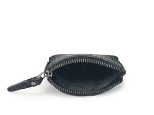 Pebbled Leather Purse - Black