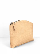 Load image into Gallery viewer, Pebbled Leather Clutch - Beige