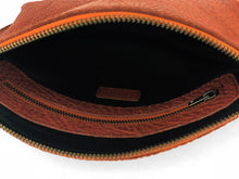 Load image into Gallery viewer, Pebbled Leather Clutch - Rust