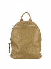 Load image into Gallery viewer, Pebbled Leather Backpack - Olive