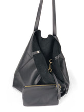 Load image into Gallery viewer, Roamer Leather Shopping Bag Set - Black