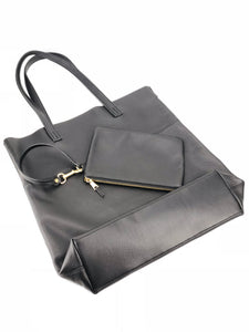 Roamer Leather Shopping Bag Set - Black