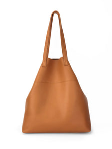 Roamer Leather Shopping Bag Set - Tan