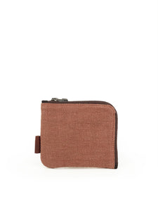 Natural Square Wallet - Rust