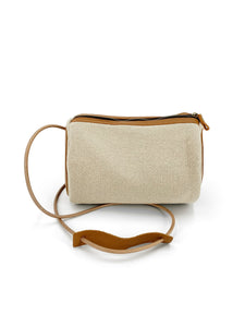 Natural Barrel Bag - Beige