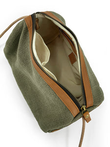 Natural Barrel Bag - Green