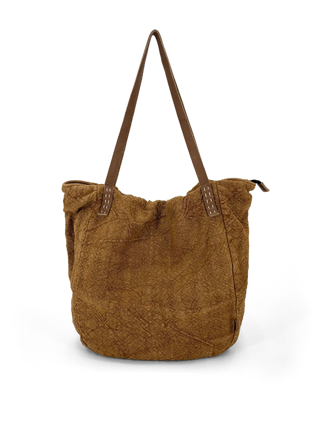 Natural Slouchy Bag - Ginger