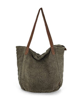 Load image into Gallery viewer, Natural Slouchy Bag - Khaki