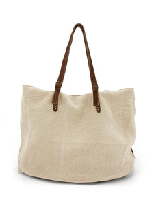 Natural Carryall Bag - Beige