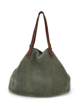 Load image into Gallery viewer, Natural Carryall Bag - Green