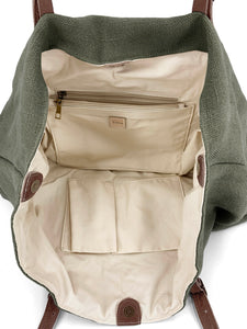 Natural Carryall Bag - Green