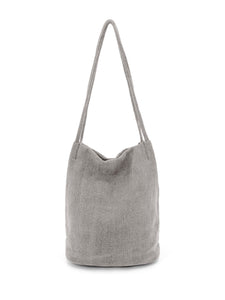 Natural Long Handle Bag - Grey