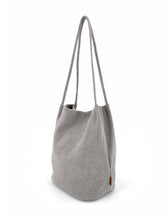 Load image into Gallery viewer, Natural Long Handle Bag - Grey