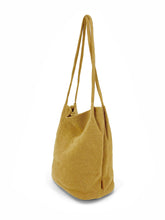 Load image into Gallery viewer, Natural Long Handle Bag - Mustard
